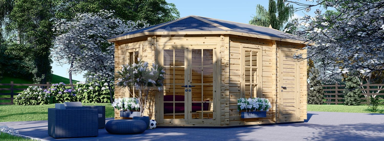 Gartenhaus aus Holz KIM (44 mm), 5x3 m, 15 m² visualization 1