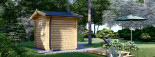 Gartensauna ELDA (44 mm), 2,5x2 m, 5 m² visualization 4