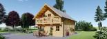 Blockbohlenhaus LANGON (66 mm) 108 m² mit extra Schneelast visualization 7