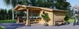 Blockbohlenhaus ISLA (44 mm) 26 m² visualization 6