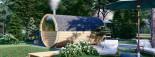 Fassauna HELGA 40 (46 mm) 4.0 m, ⌀ 1.97 m mit Panoramafenstern als Rückwand (halbhoch)  visualization 2