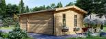 Blockbohlenhaus LEA (66 mm) 28 m² visualization 6