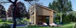 Blockbohlenhaus SOPHIA (44 mm + Vertikale Holzschalung isoliert), 20 m² visualization 3