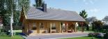 Blockbohlenhaus AURA (66 mm) 139 m² visualization 7