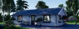 Isoliertes Blockbohlenhaus ANICA 71 m² visualization 6