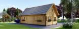 Blockbohlenhaus EMMA (44+44 mm) 91 m² visualization 5