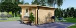 Gartenhaus DREUX (44 mm) 4x3 m, 12 m² mit Flachdach  visualization 3