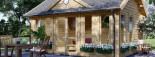 Gartenhaus CLOCKHOUSE (44 mm) 5.5x4 m, 22 m² visualization 7
