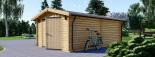 Holzgarage (44 mm) 4x6 m, 24 m² visualization 5