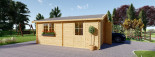Doppelgarage aus Holz (44 mm) 6x5.7 m, 34 m² /  75 m³ visualization 6