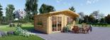 Gartenhaus WISSOUS (34 mm) 5x5 m, 25 m² visualization 5