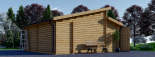 Doppelgarage aus Holz TWIN (44 mm) 6x6 m, 36 m² visualization 8