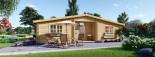 Isoliertes Blockbohlenhaus  FILL 60 m² visualization 1