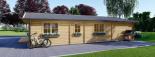 Blockbohlenhaus LINDA (66 mm) 96 m² visualization 6