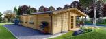 Blockbohlenhaus LINDA (66 mm) 96 m² visualization 5