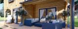 Blockbohlenhaus HOLLAND PLUS (66 mm), 120 m² + 13 m² Terrasse visualization 10