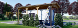 Carport aus Holz für Wohnmobil, 3.5x7 m visualization 5
