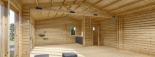 Blockbohlenhaus MARINA (44 mm) 48 m² visualization 10