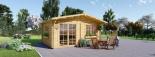 Gartenhaus WISSOUS (34 mm) 5x5 m, 25 m² visualization 3