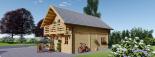 Blockbohlenhaus LANGON (66 mm) 108 m² mit extra Schneelast visualization 6