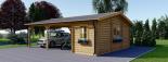 Carport aus Holz für 2 Autos mit Schuppen, 7.7x6 m visualization 4
