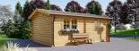 Holzgarage (44 mm) 4x6 m, 24 m² visualization 6