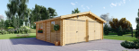 Doppelgarage aus Holz (44 mm) 6x6 m, 36 m² visualization 3