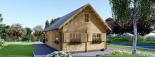 Blockbohlenhaus EMMA (44+44 mm) 91 m² visualization 2