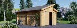 Holzgarage TWIN (44 mm) 4x6 m, 24 m² visualization 5