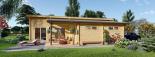 Blockbohlenhaus BERTA (66 mm) 105 m² mit Flachdach visualization 9