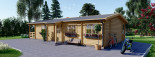 Isoliertes Blockbohlenhaus TOSCANA 50 m² visualization 6