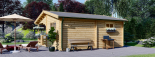 Blockbohlenhaus OLIVIA (44 mm) 6x6 m, 36 m² visualization 4