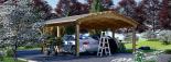 Carport aus Holz für 2 Autos BETSY DUO, 6.1x6 m visualization 4