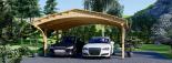 Carport aus Holz für 2 Autos BETSY DUO, 6.1x6 m visualization 7