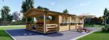 Isoliertes Blockbohlenhaus HYMER 42 m² visualization 2
