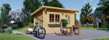 Gartenhaus DREUX (44 mm) 4x3 m, 12 m² mit Flachdach  visualization 5