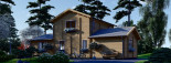 Blockbohlenhaus HOLLAND PLUS (66 mm), 120 m² + 13 m² Terrasse visualization 6