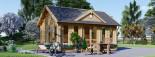 Gartenhaus CLOCKHOUSE (44 mm) 5.5x4 m, 22 m² visualization 3