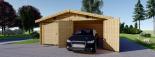 Doppelgarage aus Holz (44 mm) 6x9 m, 54 m² visualization 4