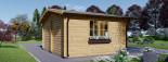 Gartenhaus LILLE (44 mm) 4x3 m, 12 m² visualization 5