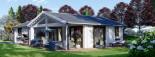 Isoliertes Blockbohlenhaus ADELE 68 m² visualization 2