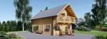 Blockbohlenhaus LANGON (120 mm) 108 m² mit extra Schneelast visualization 1
