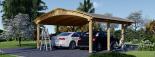Carport aus Holz für 2 Autos BETSY DUO, 6.1x6 m visualization 3