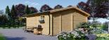 Blockbohlenhaus OLIVIA (66 mm) 6x6 m, 36 m² visualization 5