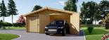 Doppelgarage aus Holz (44 mm) 6x5.7 m, 34 m² /  75 m³ visualization 4
