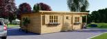 Blockbohlenhaus HYMER (66 mm) 42 m² mit Flachdach  visualization 5