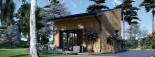 Blockbohlenhaus SOPHIA (44 mm + Vertikale Holzschalung isoliert), 20 m² visualization 7
