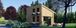 Blockbohlenhaus SOPHIA (44 mm + Vertikale Holzschalung isoliert), 20 m² visualization 4