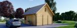 Isoliertes Blockbohlenhaus LIVINGTON 72 m² visualization 5