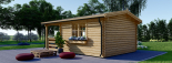 Gartenhaus SHANON (66 mm) 16 m² mit 7 m² Terrasse visualization 5
